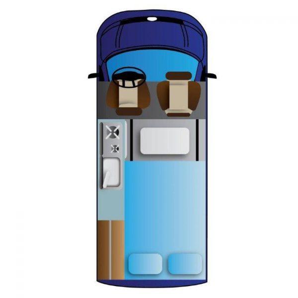 Aufteilung im Camper-Van.